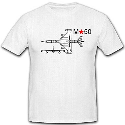 M50 Russisches Prototyp Flugzeug Militär Sowjet Versuchs Luftwaffe Mjassischtschew - T Shirt Herren, weiß #2706