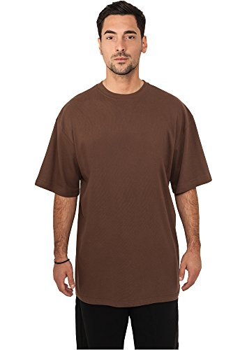 URBAN CLASSICS - Tall Tee (brown), Gr. XL (Tall Sleeve Tee Long)