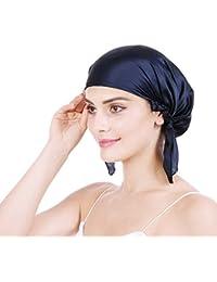 Emmet Damen Komfortable Seide Nachtmütze Kopfbedeckungen Schlafmütze Haare schützen