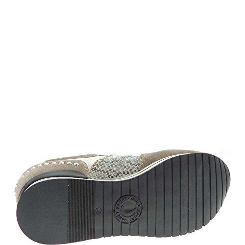 Perla Sport Femme Bianco Sneakers Janet 35729 xaXX0