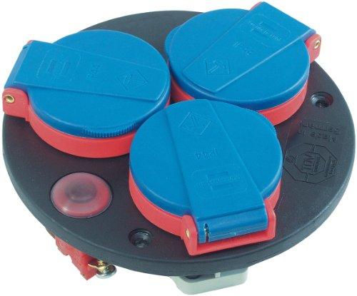 Preisvergleich Produktbild Brennenstuhl Steckdoseneinsatz-Montageplatte 3-fach IP44 Thermostat, 1081090