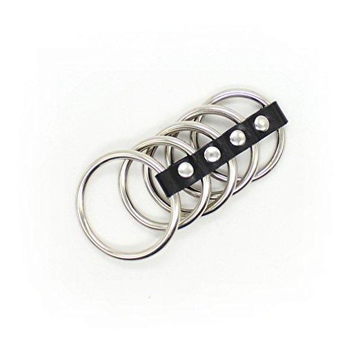 Produktbild Shawa Penisring Cockring Hoden Ringe für Peniserektion Flirt Bondage SM Fesseln Männer Sex-Spielzeug, Schwarz