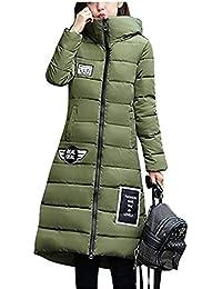 YOGLY Abrigos de Mujer Invierno Chaquetas con Capucha Abajo Abrigo de Mujer  Largo Chaquetas Plumas Outewear c0ac20e84a1b