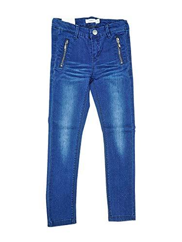 NAME IT Mädchen Jeanshose Nittaff Skinny DNM Pant NMT Noos, Blue Denim, 122