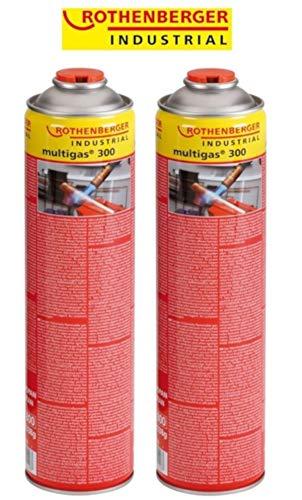 Rothenberger Multigas-Vorteilspack 2x 600 ml - 2-brenner-propan-gas-grill