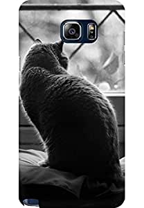 AMEZ designer printed 3d premium high quality back case cover for Samsung Galaxy Note 5 (out in the window cat)