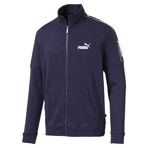 PUMA Herren Amplified Track Jacket French Terry Fleecejacke, Peacoat, - Fleecejacke Herren Puma