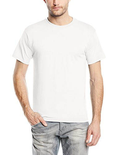 Fruit of the Loom Heavy Cotton Tee Shirt, T-shirt Uomo, Bianco (White), Large