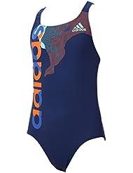 adidas By Lineage Suit, Bañador Para Niñas, Azul (Azumis/Versen), 152