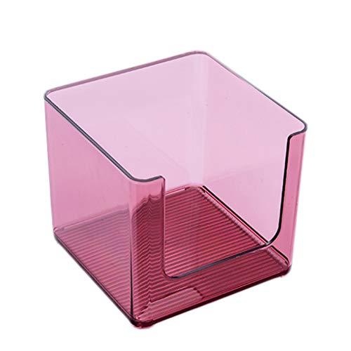 KKY-ENTER Coffret d'étalage simple de stockage de produits de soins de la peau de bureau acrylique transparent de bureau cosmétique de boîte de rangement (Couleur : C, taille : 16.5 * 16.5 * 14.6cm)