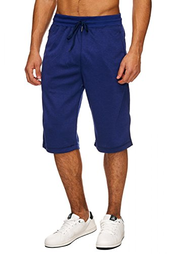 Herren Sweat-Shorts · (Relaxed Fit) Sportliche Capri Shorts, kurze Basic Sweat Pant für den Sommer, Jogging Bermuda Hose mit Tunnelzug · H1716 in Markenqualität (Fit Relaxed Shorts)