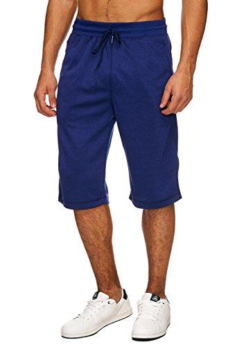 Herren Sweat-Shorts · (Relaxed Fit) Sportliche Capri Shorts, kurze Basic Sweat Pant für den Sommer, Jogging Bermuda Hose mit Tunnelzug · H1716 in Markenqualität (Relaxed Fit Shorts)
