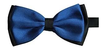 Satin pour homme bleu roi luxury réglable de pie royal & (noir)