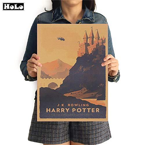 LYYDD Cartoon Fliegende Auto Poster Harry Potter Hogwarts Express Retro Poster Film Wandaufkleber Bar Cafe Room Decor FTD 42,5x30,5 cm - Express-film-poster