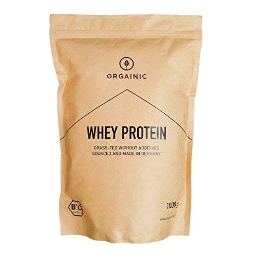 ORGAINIC Bio Natural Whey Protein - Bio Zertifizierung (DE-ÖKO-006) - Grasfütterung - 1000 g