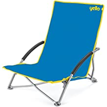yello bajo playa silla plegable unisex low beach azul