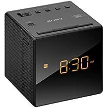 Sony ICF-C1 - Radiodespertador (AM/FM, alarma, fecha, pantalla LED), color negro