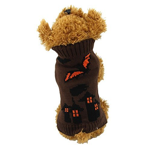 NACOCO Hund Pullover Bat Laterne Pet Devil Pullover Halloween Urlaub Party für Katze und Puppy, XL, Coffee (Party Stadt M&m Kostüm)
