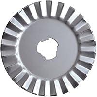 Fiskars 1343 - Cuchilla rotatoria, diámetro de 45 mm, zig-zag
