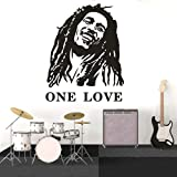 stickers muraux 3d Reggae Music Star One Love Bob Marley Décoration de la maison Bob Marley Music Poster