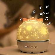 مصباح الإسقاط للأطفال، 6 مجموعة من الأفلام الضوء الليلي، 360 درجة دوران رومانسي ليلي ضوء نجمة العارض لعيد المي
