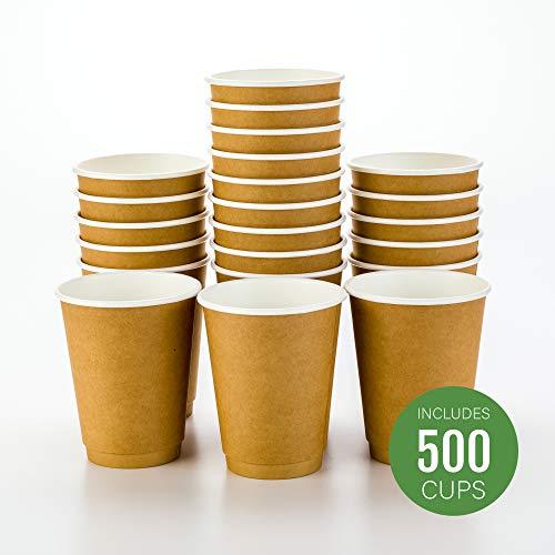 4Unzen Schwarz Einweg Double Wand Coffee und Tea Cup 500Count Box