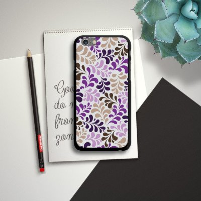 Apple iPhone 6 Housse Étui Silicone Coque Protection Ornements Motifs pixélisés Motif CasDur noir