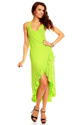Neckholder Salsa kleid Latina Partykleid Sommerkleid Discokleid Hellgrün Hellgrün Neckholder Cocktail Kleid