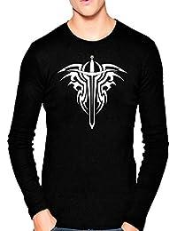 T Shirt - Full Sleeve Round Neck Sward Tattoo Design Graphics Printed 100% Cotton T Shirt - Sward Tattoo Design...