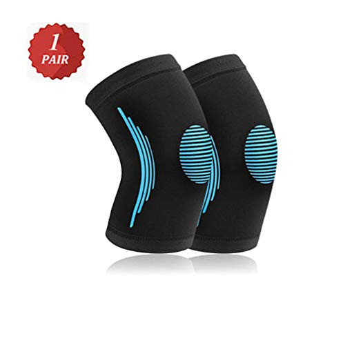 ZPPLD Kniebandage für Männer Frauen, Kompressions-Kniebandage für Arthritis Schmerzlinderung Meniskusriss, rutschfeste Sport-Kniebandage zum Laufen Laufen Joggen Sport,C,L