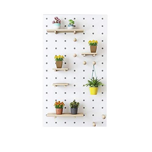 JCNFA Wandregale Massivholz Lochplatte Wandspeicher Kleiderablage Für Küche Wohnzimmer Schlafzimmer (Color : White, Size : 60×120cm) - Weiß Birkenfurnier