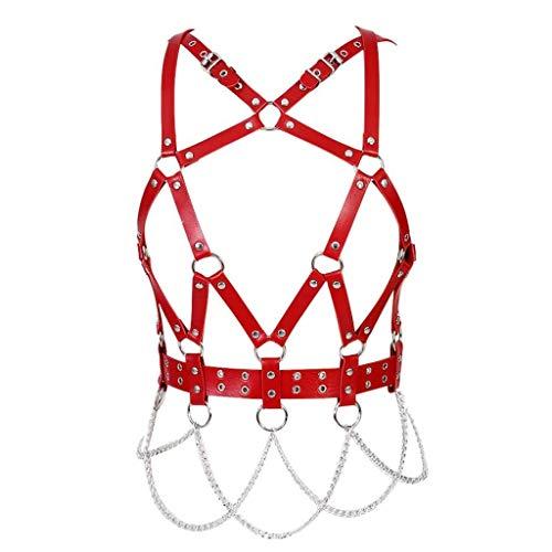 Sexy und stilvoll Frauen Sexy PU Leder Brust Body Harness Gürtel Dessous Schnallen Gothic Harness BH Plus Größe Sexy Rave Dance
