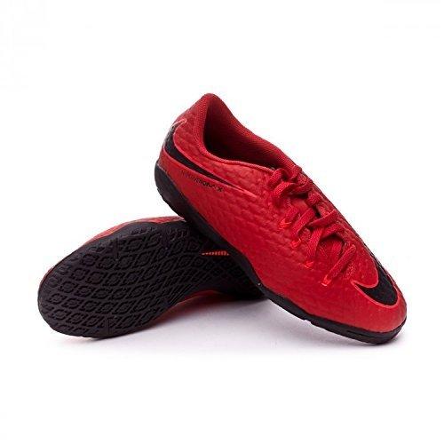 Nike Unisex-Kinder JR Hypervenomx Phelon III IC Fußballschuhe, Universität Rot/Schwarz-Helles Karmesinrot 616, 38.5 EU - Rot Jungen Sneakers Nike