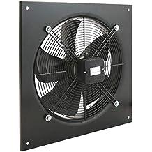 PrimeMatik - Extractor de Aire de Pared de 400 mm para ventilación Industrial 1360 RPM Cuadrado