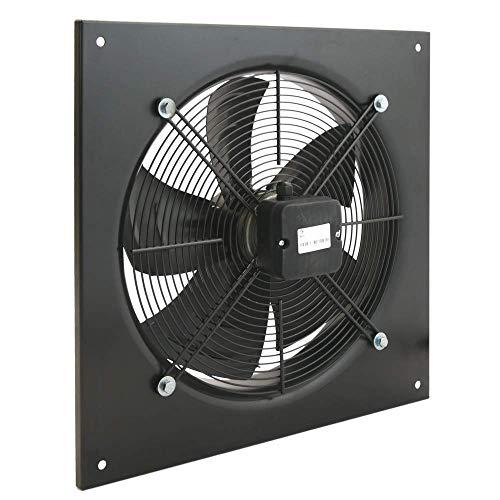 PrimeMatik - Estrattore d'Aria a Muro di 400 mm per la Ventilazione Industriale 1360 RPM Quadrati 540x540x80 mm