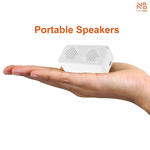 Noizzy Box Click Bluetooth Speaker with Selfie Button and Mirror (White)