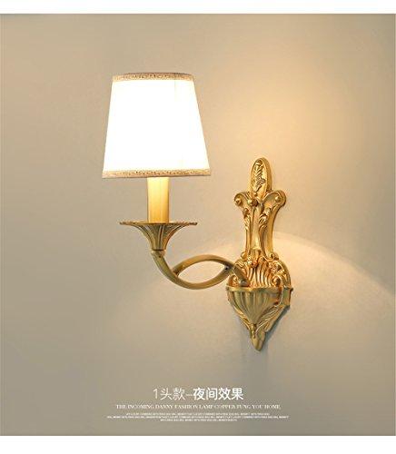 liyan minimalistische Wandleuchte Sconce E26/27-Lampe, Kupfer-Nachttisch-Lampe für das Wohnzimmer Schlafzimmer-Wand-Lampen in kontinentaleuropa mit massivem Messing-Lampe