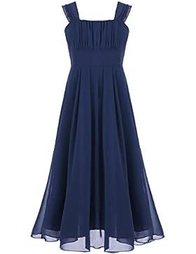Freebily Mädchen Kleid festlich Chiffon Prinzessin Hochzeit Freizeitkleid Party Kleid Sommerkleid 104 116 128...