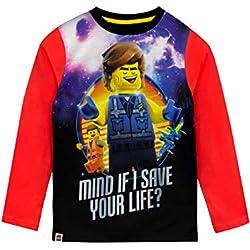 Lego Movie Camiseta de Manga Larga para niños La Lego película Rojo 11-12 Años