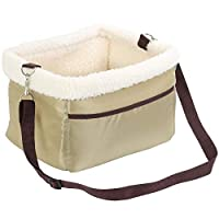 ARTHUR LOVE Pet Dog Cat Booster Seat for Car Travel Portable Pet Carrier Safety Seat Puppy Carrying Case with Safety Belt