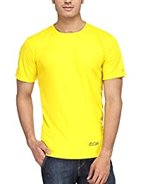 AWG - All Weather Gear Men's Polyester Round Neck T-shirt - Yellow