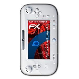 atFoliX Panzerschutzfolie für Nintendo Wii U GamePad Panzerfolie – 3 x FX-Shock-Antireflex blendfreie stoßabsorbierende Displayschutzfolie