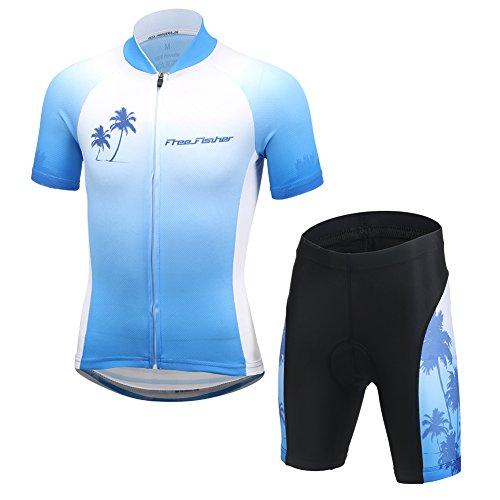 YFCH Unisex Bambino/Bambina Sportiva Maglia e Pantaloncino Shorts Ciclismo Bicicletta