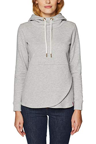 ESPRIT Damen Sweatshirt 128EE1J009 Grau (Light Grey 5 044) Large