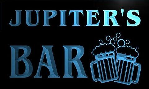 w029852-b JUPITER'S Nom Accueil Bar Pub Beer Mugs Cheers Neon Sign Biere Enseigne Lumineuse