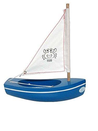 Tirot - 200 - Coque Bleu - Bateau jouet en bois navigable