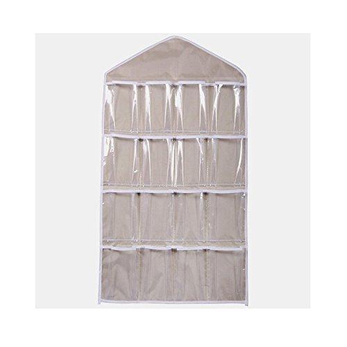 Berrose 16 Taschen löschen Hängesack Socken BH-Unterwäsche Rack-Aufhänger Speicherorganisator-Transparente BH Unterwäsche Rack Kleiderbügel Aufbewahrungstasche...
