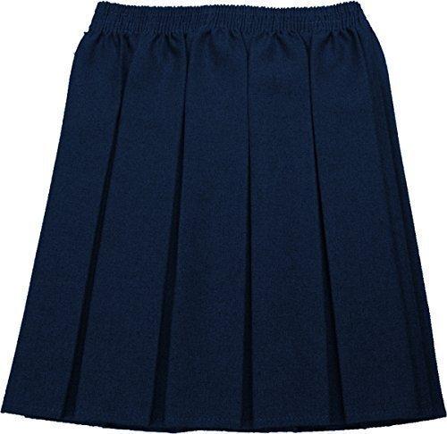Mädchen Kellerfalte Rock (Schulrock Mädchen Kellerfalte Uniform Alle Farben Größen nur einheitliche UK - Marineblau, EU 134-140)