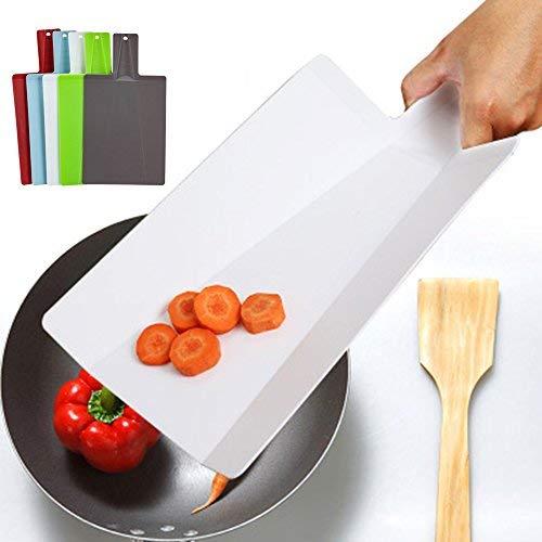 Glodenbridge tagliere pieghevole tagliere antiscivolo e dotato di foro per appendere pieghevole tagliere da cucina gadget strumenti, colore spedito in modo casuale