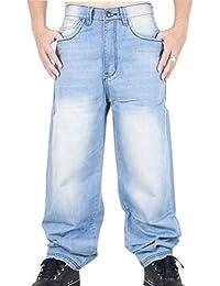 Ghope Homme Garçon Hip Hop Jeans Étoile Jeans Le Temps Est De En Vrac Cargo Combat Urbain Baggy Loost Fit